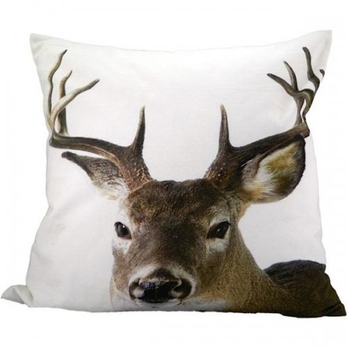 kissen hirschkopf vorderseite von mars more. Black Bedroom Furniture Sets. Home Design Ideas
