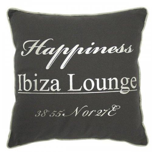 kissen ibiza happiness 40 x 40 cm grau von mars more. Black Bedroom Furniture Sets. Home Design Ideas