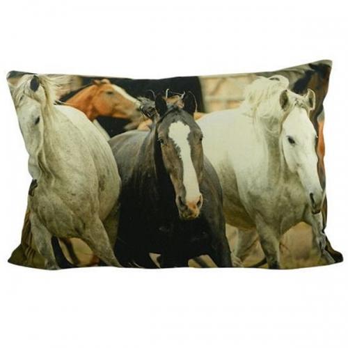 kissen pferde halbe gr e von mars more. Black Bedroom Furniture Sets. Home Design Ideas