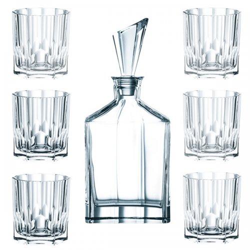 whiskygl ser gl ser whisky set aspen 7 teilig von nachtmann. Black Bedroom Furniture Sets. Home Design Ideas