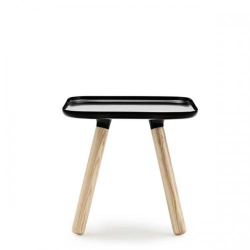 Couchtisch tablo table quadratisch schwarz natur for Couchtisch quadratisch schwarz