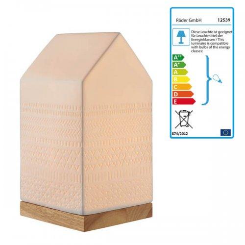 Porzellanleuchte zuhause haus muster von r der design for Haus muster