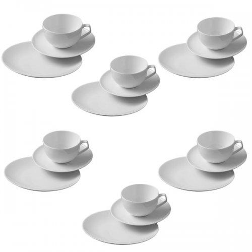 geschirr kaffeeset tac wei 18 teilig von rosenthal. Black Bedroom Furniture Sets. Home Design Ideas