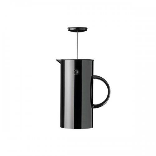 kaffeezubereiter em press schwarz gl nzend von stelton. Black Bedroom Furniture Sets. Home Design Ideas