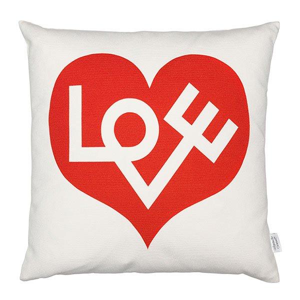 kissen graphic print love rot von vitra. Black Bedroom Furniture Sets. Home Design Ideas