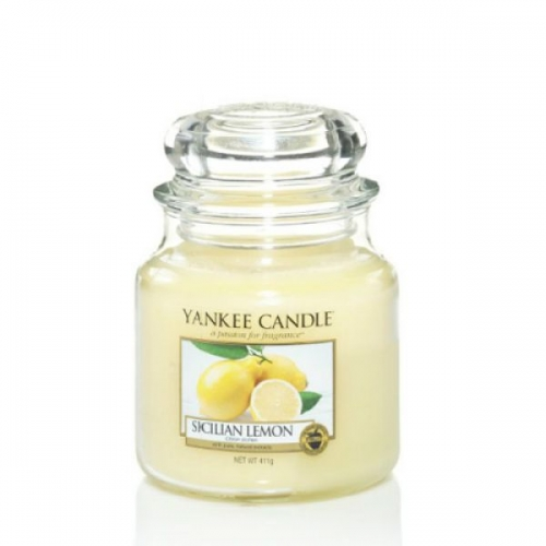 duftkerze sicilian lemon 411g von yankee candle. Black Bedroom Furniture Sets. Home Design Ideas