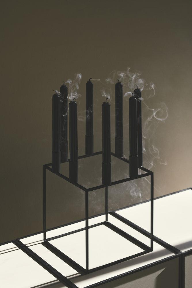 kerzenleuchter kubus 8 nickel von by lassen. Black Bedroom Furniture Sets. Home Design Ideas